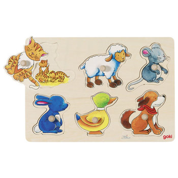 Goki, puzzle z uchwytami Mamy i dzieci-Goki