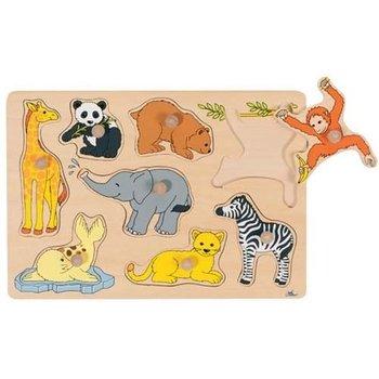 Goki, puzzle z uchwytami Zoo-Goki
