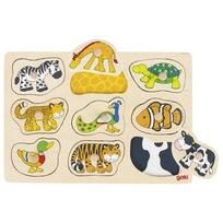 Goki, puzzle z uchwytami Zwierzątka