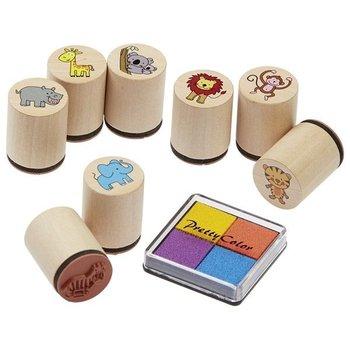 Goki, stempelki drewniane, zestaw-Goki