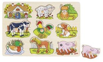 Goki, układanka Dźwiękowa Zwierzęta wiejskie-Goki
