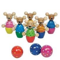 Goki, zabawka drewniana Kręgle myszki