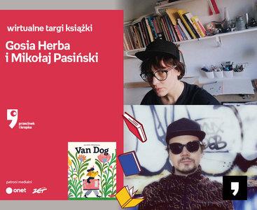 Gosia Herba i Mikołaj Pasiński – PREMIERA   Wirtualne Targi Książki. Przecinek i Kropka