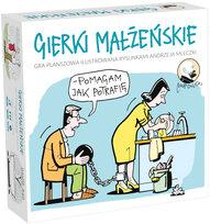 Gra towarzyska ilustrowana rysunkami Andrzeja Mleczki. Gierki małżeńskie
