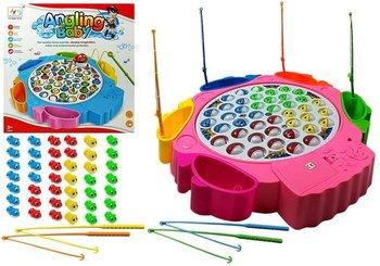 Gra Zręcznościowa Łowienie Rybek 4 Wędki Różowa-Lean Toys