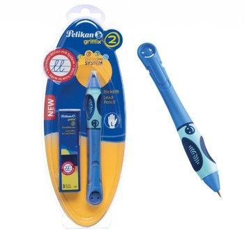 Griffix, ołówek do nauki pisania, leworęczny, niebieski-Pelikan
