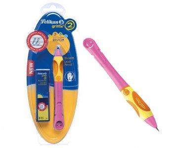 Griffix, ołówek do nauki pisania, leworęczny, różowy-Pelikan