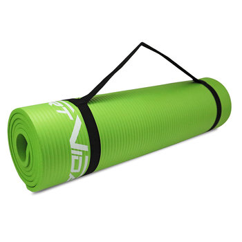 Gruba mata do ćwiczeń NBR 1,5cm zielona SportVida-SportVida