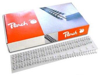 Grzbiet drutowy do bindowania PEACH PW064-01, 100 szt.-Peach