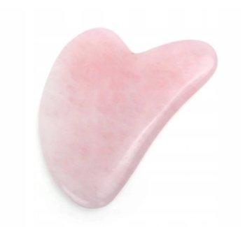 Gua Sha płytka z kwarcu różowego masaż twarzy-inna