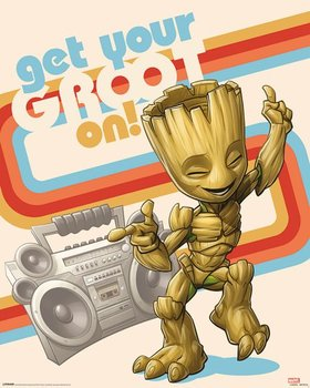 Guardians of the Galaxy Vol. 2 Get Your Groot On - plakat 40x50 cm-Pyramid Posters