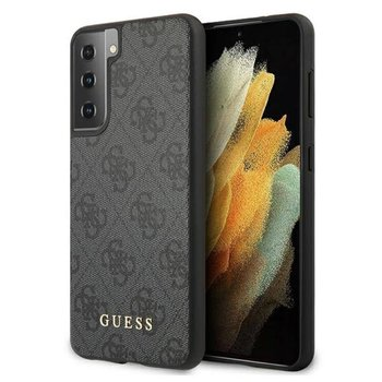 Guess 4G Metal Logo - Etui Samsung Galaxy S21 (szary) - GUESS