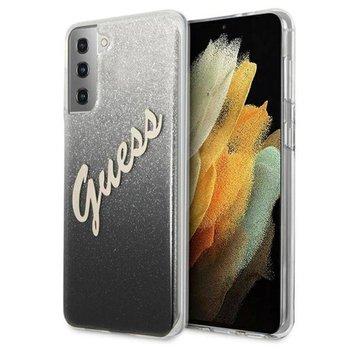 Guess Glitter Gradient Script - Etui Samsung Galaxy S21 (czarny)-GUESS