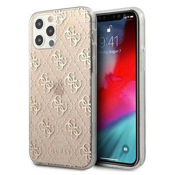 "Guess GUHCP12MPCU4GLGO iPhone 12/12 Pro 6,1"" złoty/gold hard case 4G Glitter-GUESS"