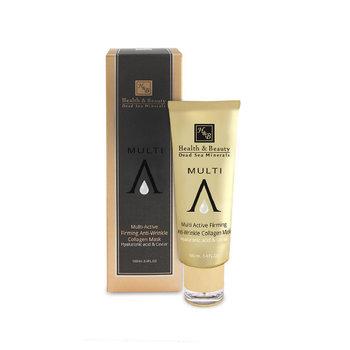 H&B, Black Premium, maseczka przeciwzmarszczkowa z kwasem hialuronowym i kawiorem, 100 ml-H&B