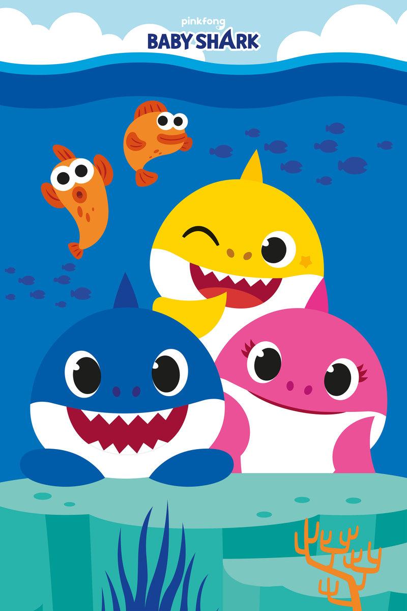 Halantex, Koc, Baby Shark, 100x150 cm - Halantex | Sklep EMPIK.COM