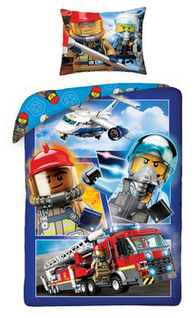 Halantex, Lego City, Pościel dziecięca, Straż Strażak, 140x200 cm-Halantex