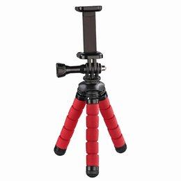 HAMA, Mini Statyw Flex 2W1 14 Cm, Czerwony