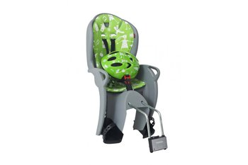 Hamax, Fotelik rowerowy i kask, Kiss, szaro-zielony-Hamax