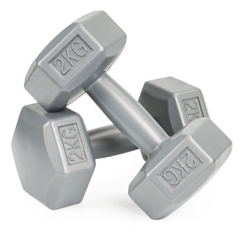 Hantle fitness 4kg zestaw hantelki ciężarki 2x 2kg-ModernHome