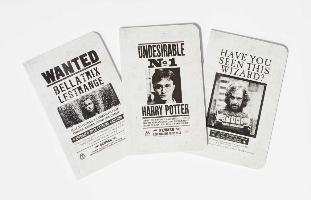 Harry Potter: Wanted Posters Pocket Notebook Collection (Set of 3) - Insight Editions