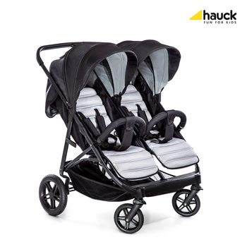 Hauck, Rapid 3R Duo, Wózek bliźniaczy, Silver/Charcoal-Hauck