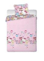 Hello Kitty, Komplet pościeli flanelowej, 160x200 cm
