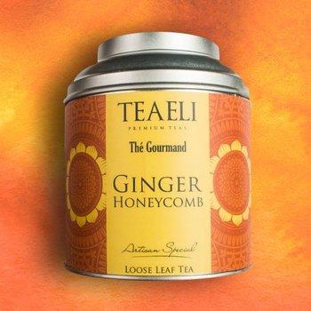 Herbata czarna w puszce TEAELI Imbir z miodem, 75 g-Ambassador