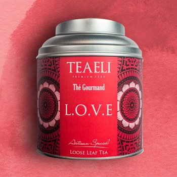 Herbata liściasta w puszce TEAELI Miłość, 75 g-Ambassador