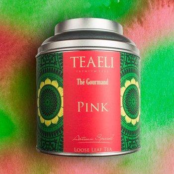 Herbata liściasta zielona w puszce TEAELI Różowa, 75 g-Ambassador