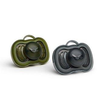 Herobility, HeroPacifier, Smoczek uspokajający, 6m+, Czarny/Zielony, 2 szt.-Herobility