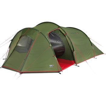 High Peak, Namiot 4-osobowy, Goshawk 10307, zielono-czerwony, 240x230x140+160 cm -High Peak