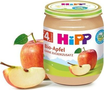 HiPP, Bio, 100% przetartego jabłuszka, 125 g-Hipp
