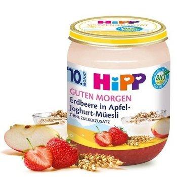 HiPP, Bio, jogurt z musli i truskawkami, 160 g-Hipp