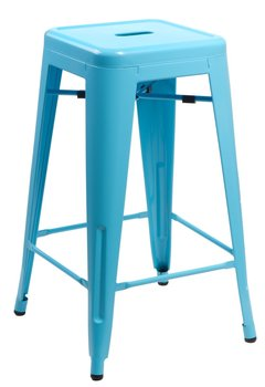 Hoker D2.DESIGN Paris Tolix, niebieski, 75x44x44 cm-D2.DESIGN