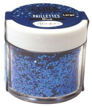 Holograficzny brokat gruby, niebieski, 30 ml-Aladine