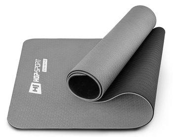 Hop-Sport, Mata fitness, 0,6cm, szary-Hop-Sport