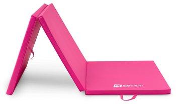 Hop-Sport, Materac gimnastyczny składany, miękki, różowy, 4cm-Hop-Sport