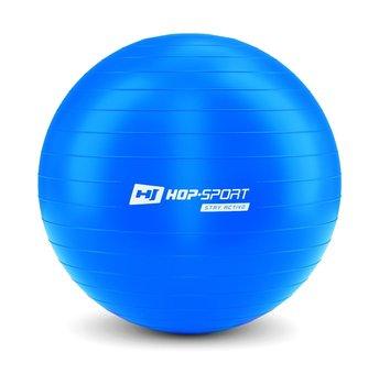Hop-Sport, Piłka fitness, 70cm z pompką, niebieski-Hop-Sport