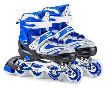 Hop-Sport, Rolko-wrotki 2w1, Tri-skate, HS-8101 Speed, niebieskie, rozmiar M-Hop-Sport