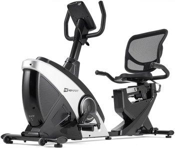 Hop-Sport, Rower leżący, HS-070L Helix, srebrny + mata-Hop-Sport