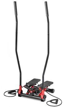 Hop-Sport, Stepper skrętny z ramionami HS-045S Slim, czerwony-Hop-Sport