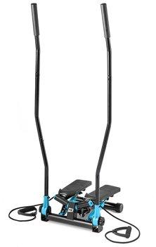 Hop-Sport, Stepper skrętny z ramionami, HS-045S Slim, niebieski-Hop-Sport