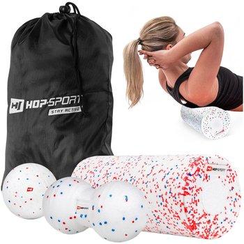 Hop-Sport, Zestaw do masażu, biały, 4 szt.-Hop-Sport