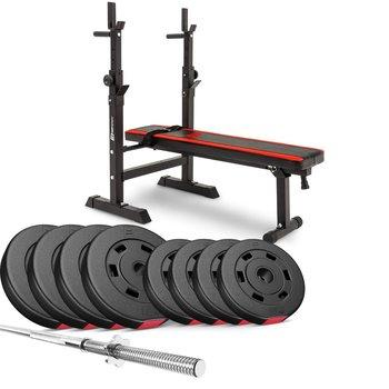 Hop-Sport, Zestaw kulturystyczny z ławką, Premium HS-1080, 39 kg-Hop-Sport