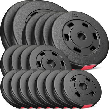 Hop-Sport, Zestaw obciążeń kompozytowych Set AC - 60 kg, czarny-Hop-Sport