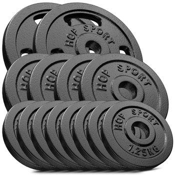 Hop-Sport, Zestaw obciążeń żeliwnych, 30 kg (2x5, 4x1.25, 8x1.25)-Hop-Sport