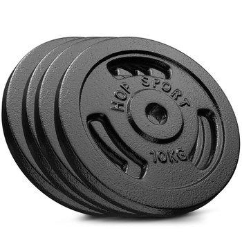 Hop-Sport, Zestaw obciążeń żeliwnych 4x10kg-Hop-Sport