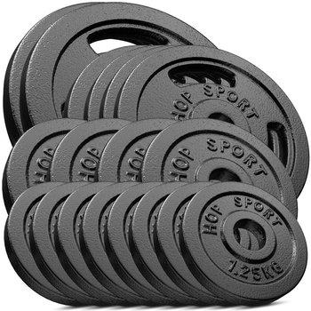 Hop-Sport, Zestaw obciążeń żeliwnych 60kg (2x10, 4x5, 4x2.5, 8x1.25)-Hop-Sport