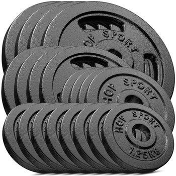 Hop-Sport, Zestaw obciążeń żeliwnych, 80 kg (4x10, 4x5, 4x2.5, 8x1.25)-Hop-Sport